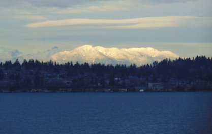 Cascade Mtns via 520 bridge